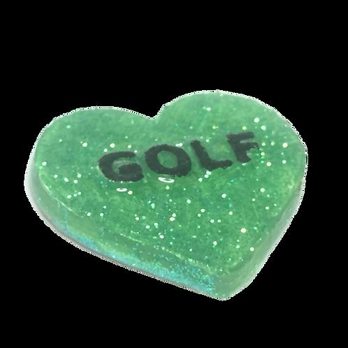 Green Golf Conversation Heart