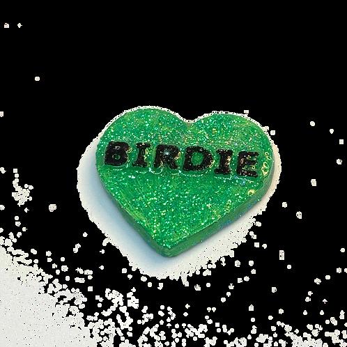 Green Birdie Conversation Heart