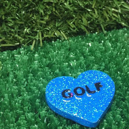 Blue Golf Conversation Heart