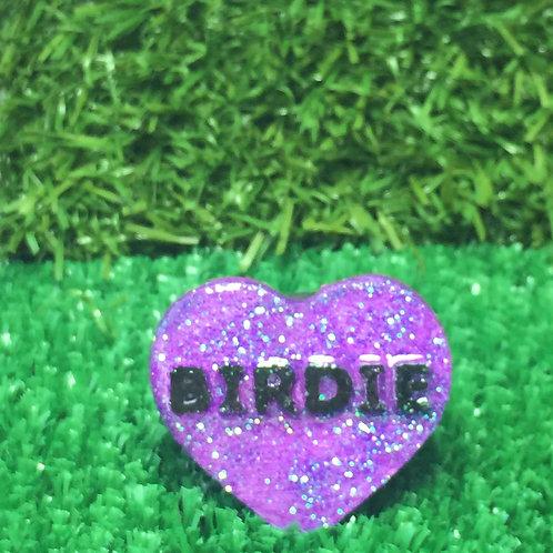 Purple Birdie Conversation Heart