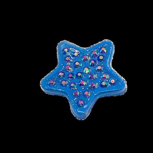 Blue Rhinestone Star