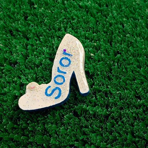 White High Heel with Blue Soror