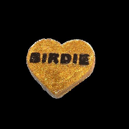 Gold Birdie Conversation Heart