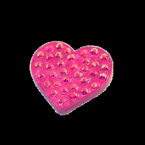 Pink Rhinestone Heart