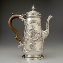 Petrie coffeepot Abraham enslaved silver
