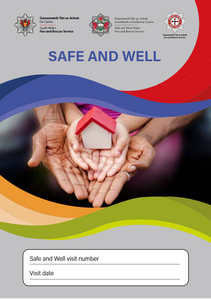 picture of south wales fire and rescue safety advice leaflet.