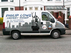 picture of my cardiff chimney sweep van
