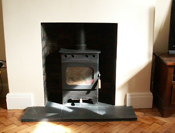 wood burning stove fitted in Cardiff by myself as a hetas engineer.