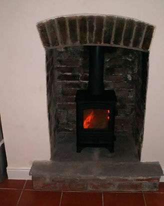 wood burning stove by me fitted near newport south wales.