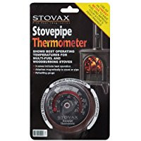 picture of a wood burner or stove thermometer which is used to help control the temperature in the chimney