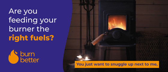 burn better logo for advice on choosing clean fuels for solid fuel and wood burning appliances