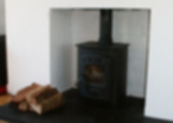 pictute of a wood burning stove I fitted in Cardiff.
