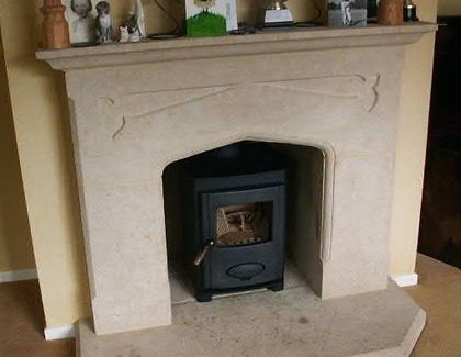 picture of a wood burning stove i fitted in cardiff