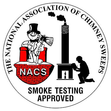 Logo to show I am national association of chimney sweeps qualified to smoke test chimneys.