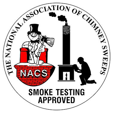 Logo to show Philip Lowe Chimney Sweep is National Association of Chimney Sweeps qualified to smoke test chimneys. It has a link on it to NACS.