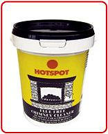 Hotspot powder in a tub for removing tar and creosote from chimneys. A link is in place to the Hotspot websiite which has detailed information on the powder.