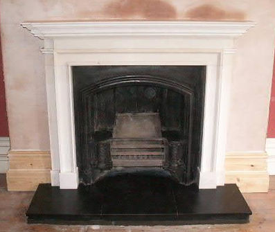 Picture of a open fire fit in cardiff by philip lowe chimney sweep a hetas engineer based in cardiff.