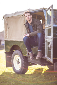 Litherland Photo- Chatham Shoes Autumn Winter Photoshoot Land Rover Series 1