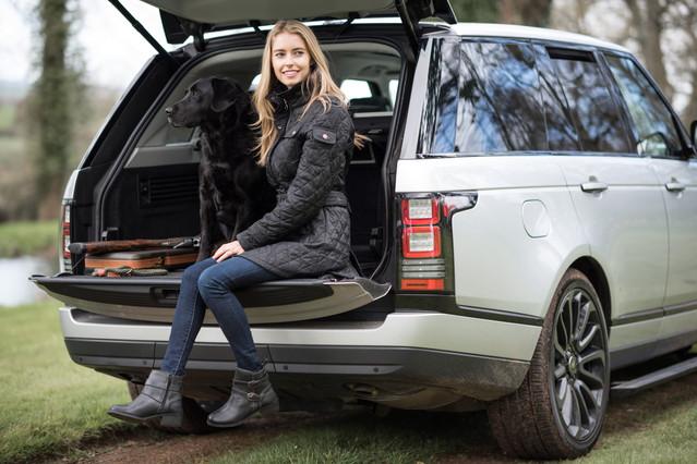 Litherland Photo- Range Rover Black Labrador Dog Chatham Shoes AW