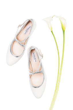 Litherland Photo - Sargasso wide fit womens shoes and flowers.