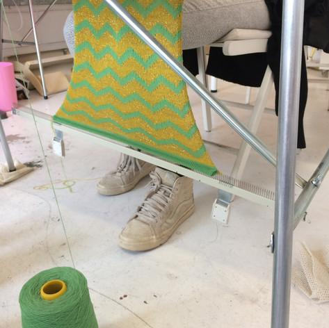 Knitting cushion fabric