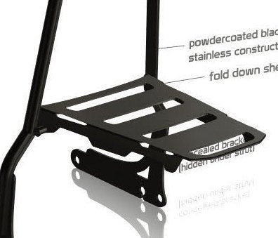 Add a fold down rack to your Combustion Industries sissy bar