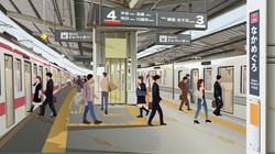 中目駅ホーム