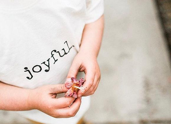 """Organic """"Joyful"""" Toddler Tee"""