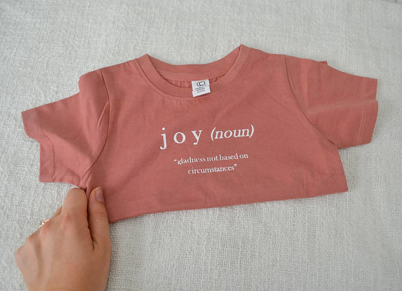 """Vintage Rose """"Definition of Joy"""" Toddler Tee"""