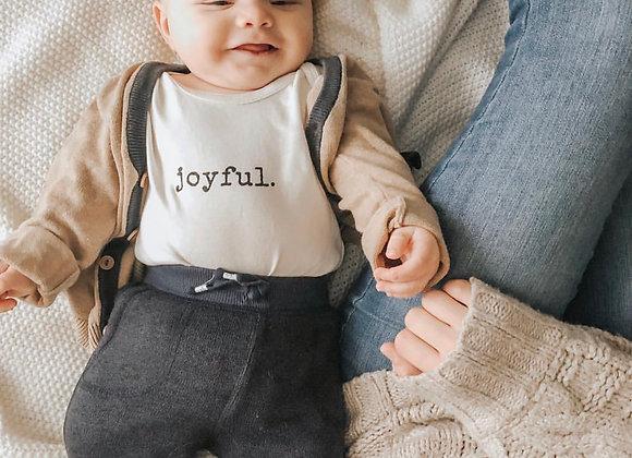 "Organic ""Joyful"" Infant Snappy Suit"