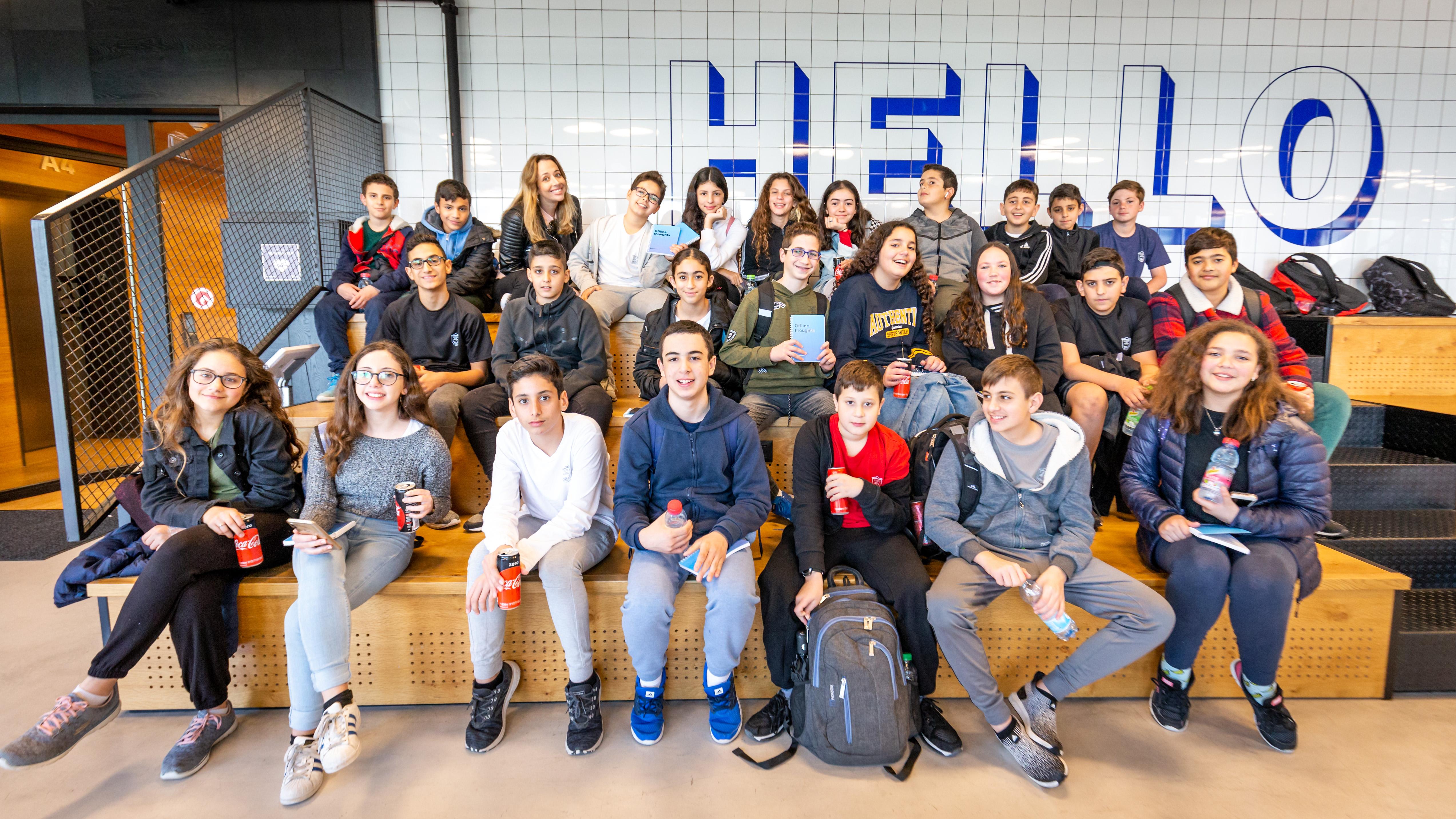 ביקור ביה״ס עירוני י״ד באיירון סורס