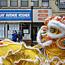 "Brian Cohen photo, ""Out of Many"", Chinese New Year, Kosher market, Pittsburgh"