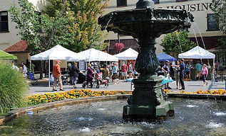 ArtFest, Bloomsburg, fountain, by Jimmy May