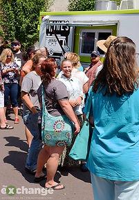 ArtFest, Bloomsburg, food truck line