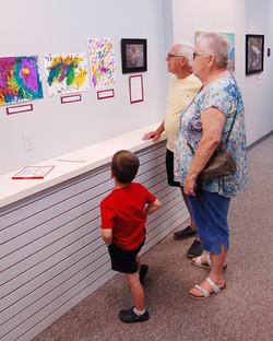 Ideas Studio student and grandparents