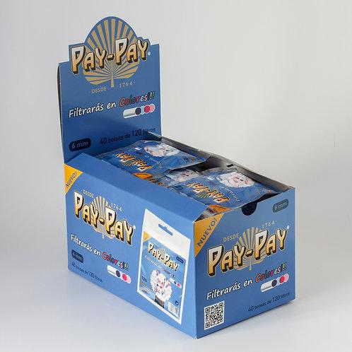 Filtro para Cigarro Pay-Pay Slim Colorido de 6mm