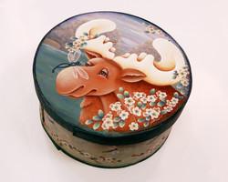 Gloria Davis -- Moose & Butterfly Cheese Box