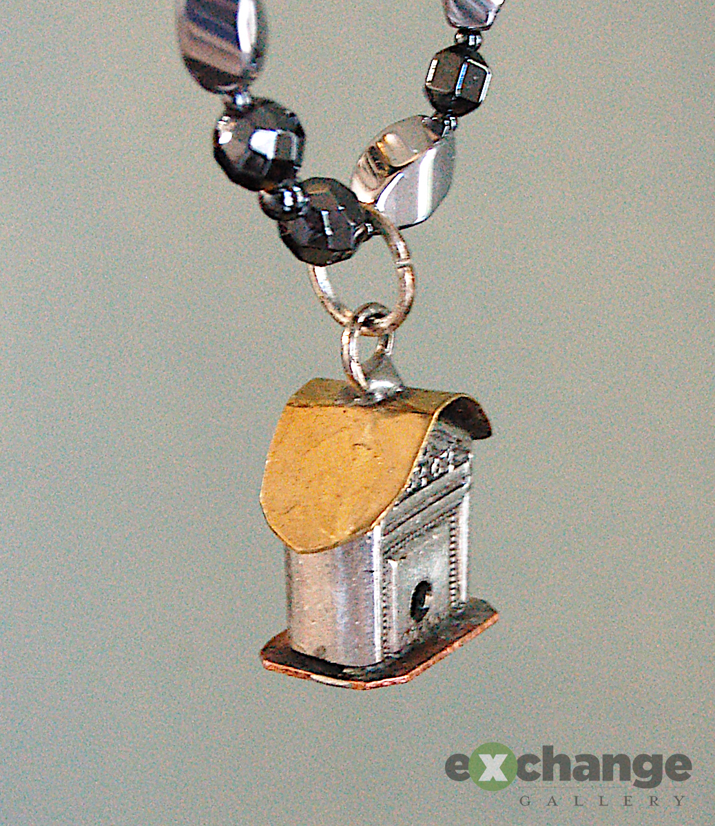Louy Marquette -- Birdhouse Necklace