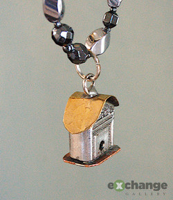 Louy Marquette -- Birdhouse Necklace
