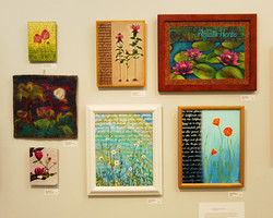 Gina Dignazio acrylica and mixed media and Sheila Dignazio felt