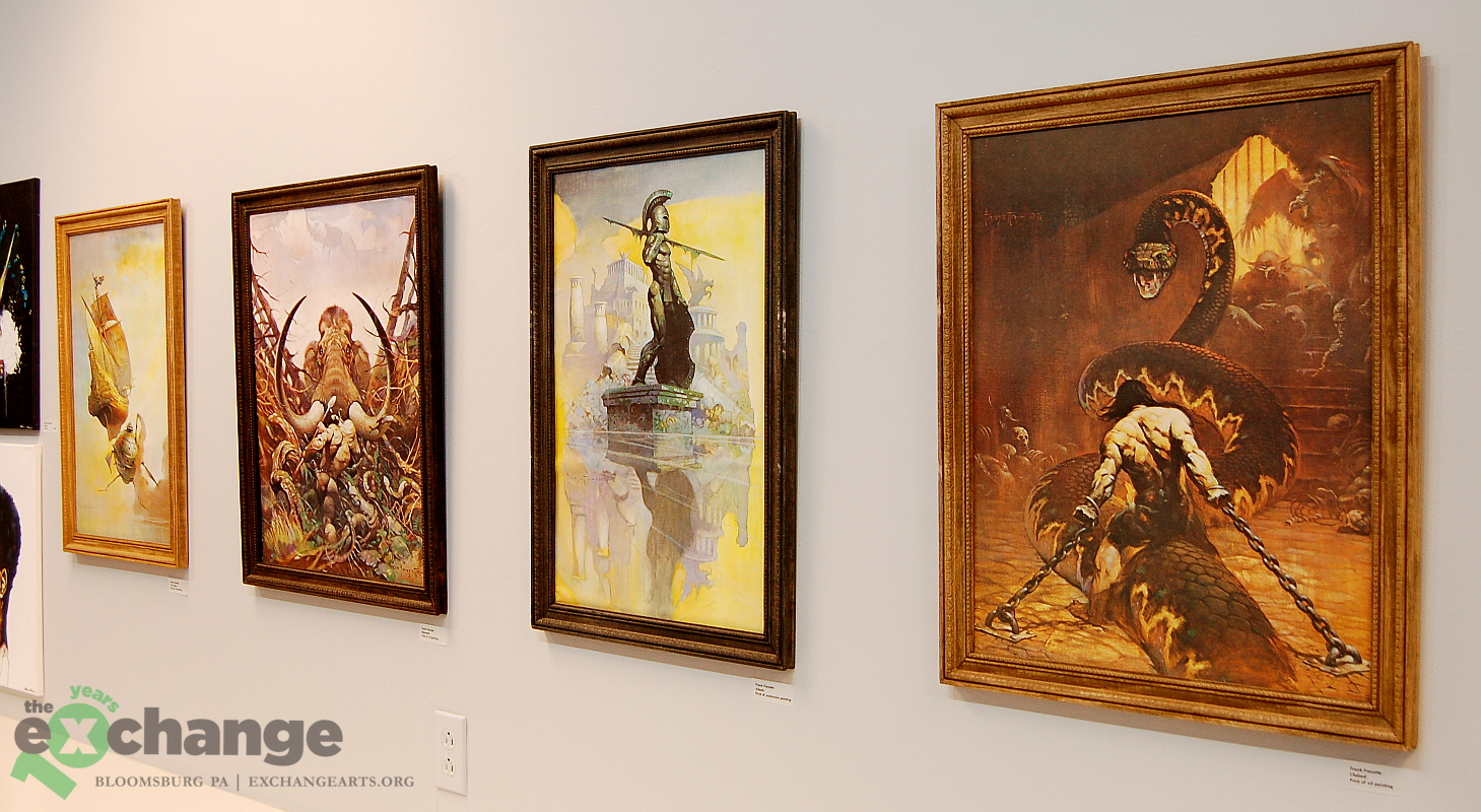 Frazetta -- west wall