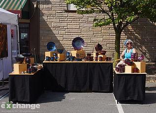 Sara Baker Handmade Stoneware, Artfest, Bloomsburg