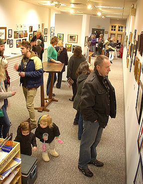 Exchange Gallery, Bloomsburg PA, reception