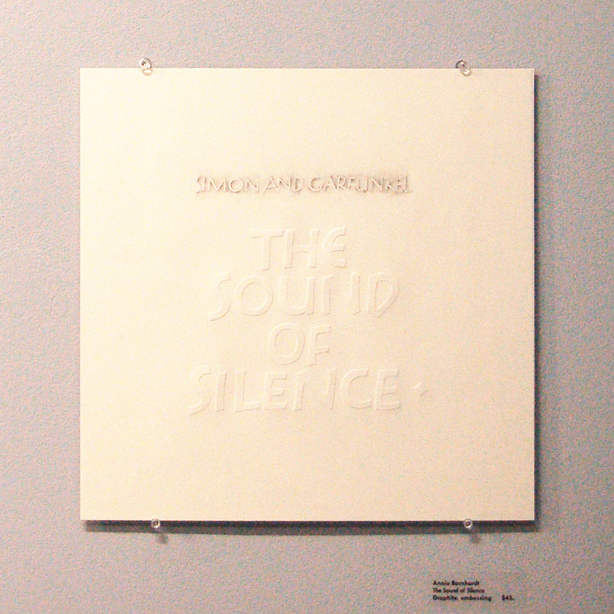 Annie Barnhardt -- The Sound of Silence.