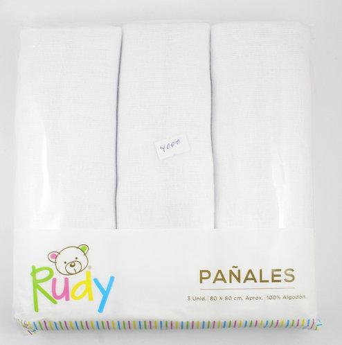 Pack 3 Pañales Rudy
