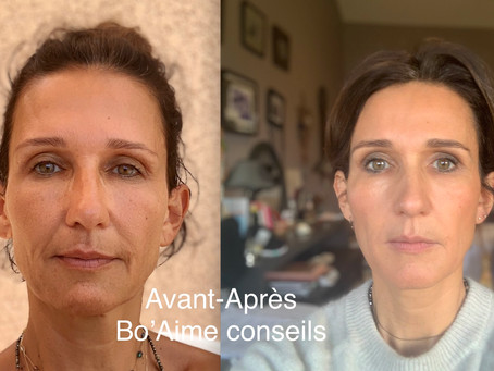 """Photo """"avant-après"""" 5 mois de pratique quotidienne."""