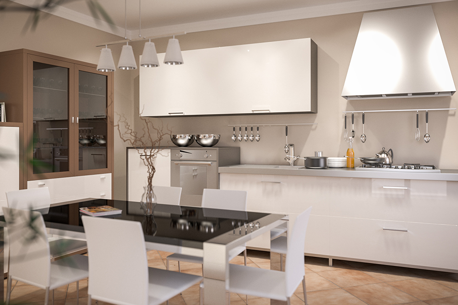 cucina kitchen rendering