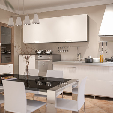 rendering cucina kitchen real estate