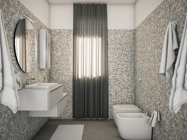 bathroom bagno rendering