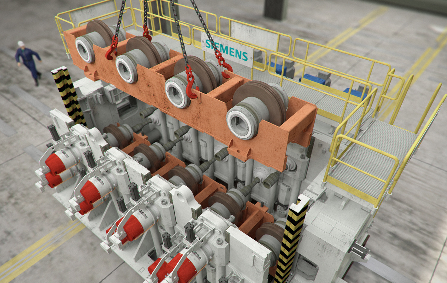 3D MODEL AND RENDERING OF INDUSTRIAL PRODUCTS
